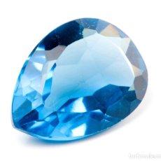 Coleccionismo de gemas: TOPACIO AZUL DE 7,65 KILATES CON CERTIFICADO AGI - MIDE 1,4 X 1,2 X 0,6 CENTIMETROS Nº2. Lote 195016487