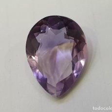 Coleccionismo de gemas: AMATISTA GEMA TALLA PERA. Lote 195366385