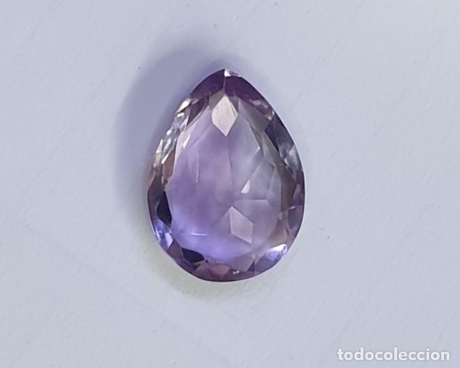 Coleccionismo de gemas: Amatista Gema Talla pera - Foto 3 - 195366385