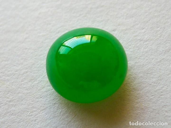 CABUJÓN EN JADE JADEITA. REF 321 (Coleccionismo - Mineralogía - Gemas)