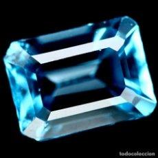 Coleccionismo de gemas: TOPACIO AZUL SUIZO 8,0 X 6,0 MM.. Lote 195981306