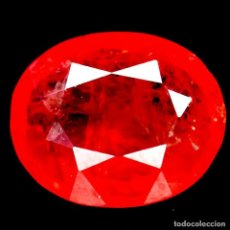 Coleccionismo de gemas: ZAFIRO NATURAL NARANJA 8,0 X 6,0 MM.. Lote 195988236