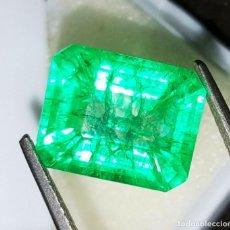 Collezionismo di gemme: ESMERALDA NATURAL 8.22.CTS + CERTIFICADO GGL - 13.53.MM X 10.90.MM X 8.00.MM ORIGEN COLOMBIA. Lote 196547237