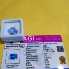 Collezionismo di gemme: TOPACIO NATURAL 100% AZUL IMPERIAL DE 5,80 CTS.. Lote 197044096