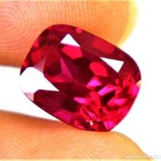 Collezionismo di gemme: RUBI RUBY NATURAL 6.35.CT CORTE COJIN + CERTIFICADO AGSL - 11.10 X 8.60 X 7.20.MM. Lote 197493302
