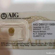 Coleccionismo de gemas: DIAMANTE 1,21 CT. AIG. Lote 199657501