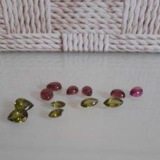 Coleccionismo de gemas: LOTE DE 12 TURMALINAS NATURALES EN DIVERSAS TALLAS.. Lote 200575411