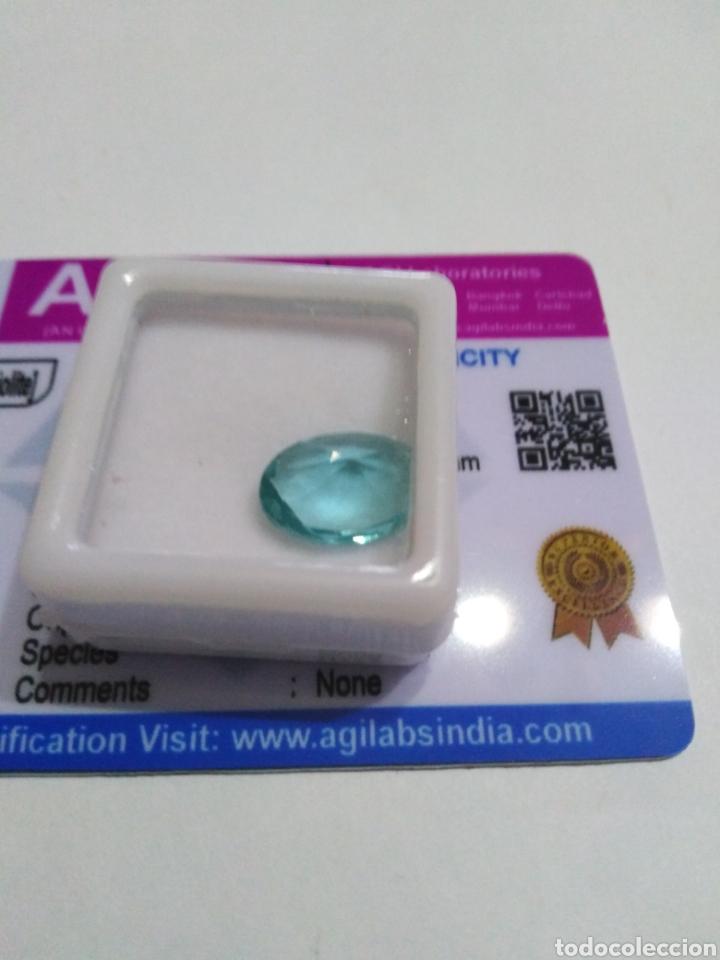 AMATISTA (PRASIOLITA) NATURAL DE 4,15CTS (Coleccionismo - Mineralogía - Gemas)