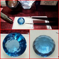 Coleccionismo de gemas: AGUAMARINA DE BRASIL TALLA REDONDA 7.60 CTS. Lote 202997180
