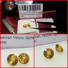 Coleccionismo de gemas: PAREJA ESFENAS DE MADAGASCAR TALLA REDONDA 1.55 CTS. Lote 203204181