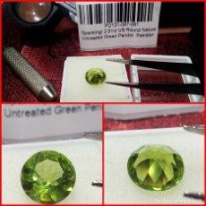 Coleccionismo de gemas: PERIDOTO VS REDONDO PAKISTÁN 2.51 CT.. Lote 203204435