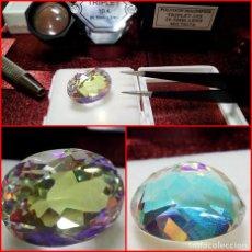 Coleccionismo de gemas: ENORME PIEZA DE CUARZO MÍSTICO OVAL 15.55 CTS. Lote 203204487