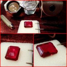 Coleccionismo de gemas: RUBÍ MUY ROJO SINTÉTICO OCTÓGONO 6.50 CTS. Lote 203204726