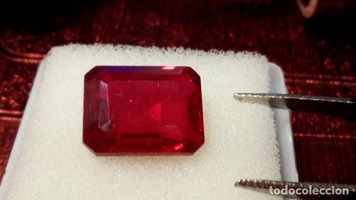 Coleccionismo de gemas: RUBÍ MUY ROJO SINTÉTICO OCTÓGONO 6.50 Cts - Foto 4 - 203204726