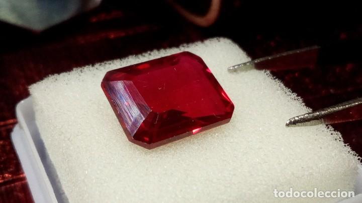 Coleccionismo de gemas: RUBÍ MUY ROJO SINTÉTICO OCTÓGONO 6.50 Cts - Foto 5 - 203204726