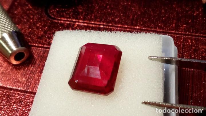 Coleccionismo de gemas: RUBÍ MUY ROJO SINTÉTICO OCTÓGONO 6.50 Cts - Foto 7 - 203204726