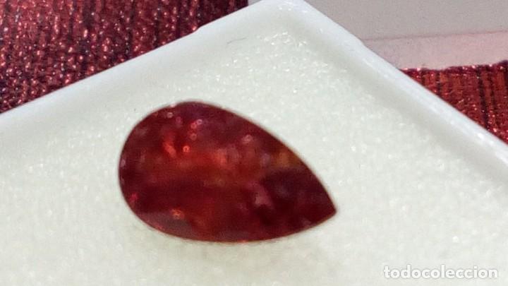 Coleccionismo de gemas: RUBI DE MOZAMBIQUE TALLA PERA 0.73 CTS. - Foto 6 - 203204767