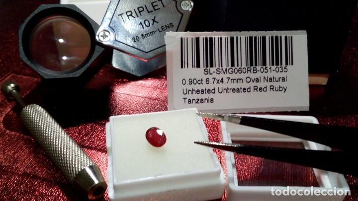 Coleccionismo de gemas: NATURAL RUBY CUT OVAL TANZANIA 0.90 CTS - Foto 3 - 203204781