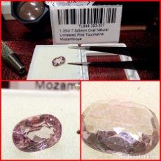 Coleccionismo de gemas: TURMALINA ROSA OVAL MOZAMBIQUE 1.25 CTS. Lote 203404698