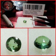 Coleccionismo de gemas: TURMALINA VERDE DE MOZAMBIQUE OVAL 0.74 CTS. Lote 203405012