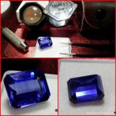 Coleccionismo de gemas: ZAFIRO ROYAL KASHMIR AZUL TALLA ESMERALDA 5.75 CTS. Lote 203591341