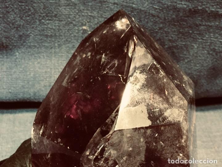 Coleccionismo de gemas: bloque piedra mineral facetado cuarzo amatista color violeta transparente 13 x 10 x 10 cm - Foto 3 - 204791855