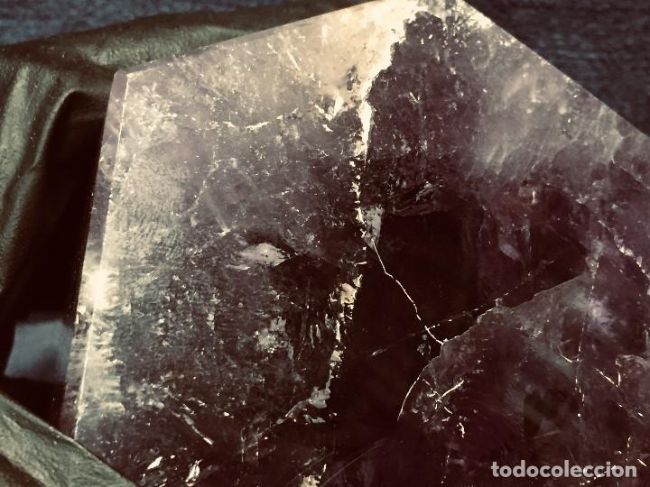 Coleccionismo de gemas: bloque piedra mineral facetado cuarzo amatista color violeta transparente 13 x 10 x 10 cm - Foto 6 - 204791855