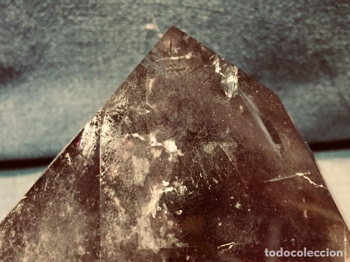 Coleccionismo de gemas: bloque piedra mineral facetado cuarzo amatista color violeta transparente 13 x 10 x 10 cm - Foto 10 - 204791855