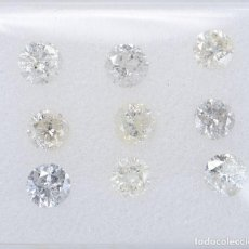 Coleccionismo de gemas: 9 DIAMANTES TALLA BRILLANTE 1.02 CT CERTIFICADO. Lote 206235541