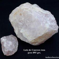 Coleccionismo de gemas: LOTE DE CUARZOS ROSAS EN BRUTO. Lote 206772613