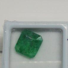 Coleccionismo de gemas: ESMERALDA, 4,15 CT CORTE CUADRADO FACETEADO,. Lote 210518280