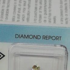 Coleccionismo de gemas: DIAMANTE 0,20 CT CERTIFICADO IGI, VVS2 COLOR WX LIGHT YELLOW. Lote 210557017