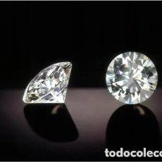 Coleccionismo de gemas: 2 ZAFIROS BLANCOS IGUALES TALLA DIAMANTE CADA UNO MIDE 7X7X5 MILIMETROS. Lote 210559643
