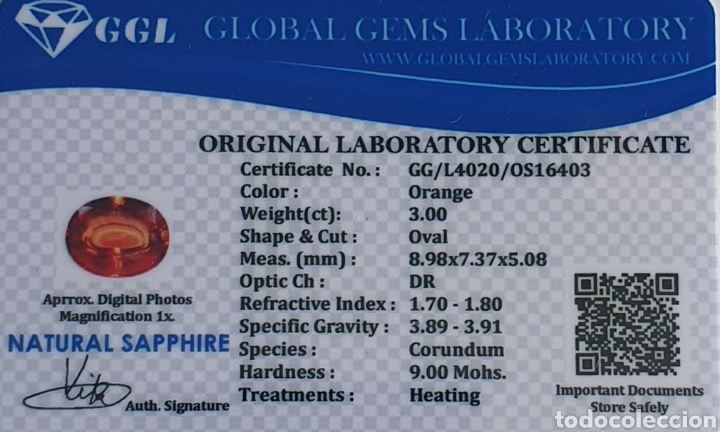 Coleccionismo de gemas: Excepcional Zafiro natural de 3.00 Quilates valorado en más de 600 euros - Foto 6 - 213698033