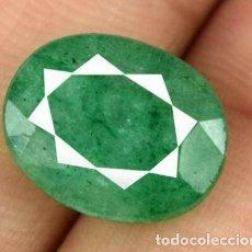 Coleccionismo de gemas: ESMERALDA NATURAL DE COLOMBIA . OVAL DE 5.85 CT . CERTIFICADA. Lote 238354330