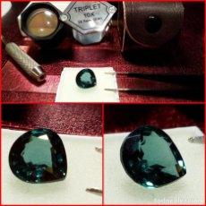 Coleccionismo de gemas: TURMALINA AZUL DE BRASIL INDICOLITA TALLA CORAZÓN 4.05 CTS. Lote 214322886