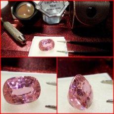Coleccionismo de gemas: KUNZITA ROSA TALLA FANTASÍA DE BRASIL 11 CTS. Lote 214323690
