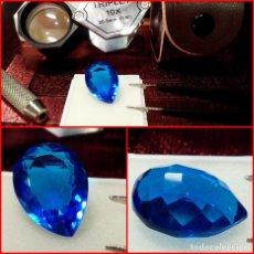 Coleccionismo de gemas: TOPACIO AZUL DE BRASIL TALLA PERA 8.5 CTS. Lote 214329285