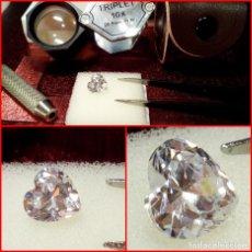 Coleccionismo de gemas: ZIRCONIA CÚBICA SWAROVSKY 7MM CORTE CORAZÓN. Lote 214331727
