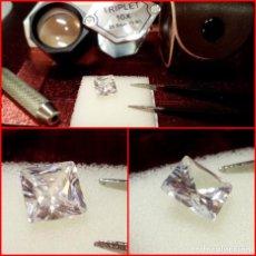 Coleccionismo de gemas: ZIRCONIA CÚBICA SWAROVSKY 7MM CORTE PRINCESA. Lote 214332217