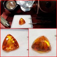 Coleccionismo de gemas: ZAFIRO NARANJA SRI-LANKA TALLA TRILLION 5 CTS. Lote 214332868