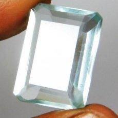 Coleccionismo de gemas: AGUAMARINA HYDRO CON TALLA ESMERALDA DE AFGANISTAN CON 21.36 CT.. Lote 215456588