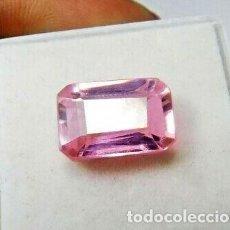 Coleccionismo de gemas: ESPODUMENA ROSA (KUNCITA) NATURAL DE BRASIL, SIN TRATAR. TALLA ESMERALDA CON 9.75 CT.. Lote 215459515