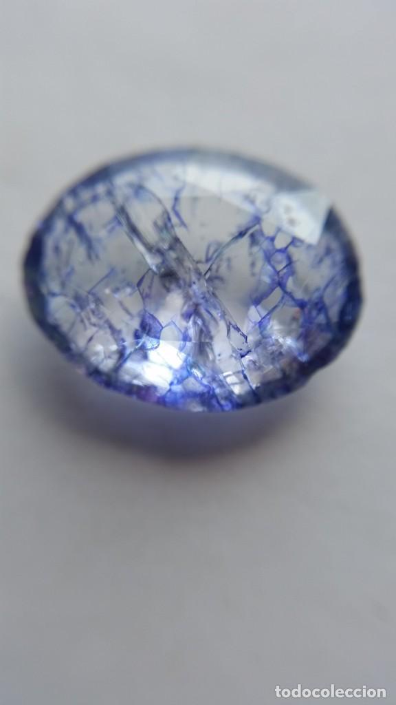 PRECIOSA TANZANITA PANNA NATURAL DE TANZANIA TALLA OVAL CON 7.00 CT. (Coleccionismo - Mineralogía - Gemas)