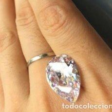 Coleccionismo de gemas: PRECIOSO ZAFIRO BLANCO CHATHAM NATURAL DE CAMBOYA TALLA DE PERA CON 14.00 CT.. Lote 216913307