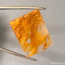 Coleccionismo de gemas: QUARTZO COM INCLUSÃO (HEMATITA) - 41,1CT - 27X22X4MM. Lote 217447042