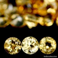 Collezionismo di gemme: CITRINO NATURAL REDONDO 3 MM.. Lote 217920958