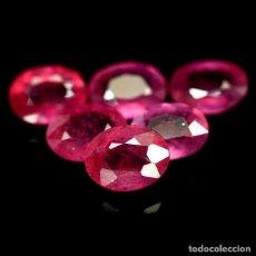 Coleccionismo de gemas: RUBI OVAL 8,0 X 6,0 MM.. Lote 217924345