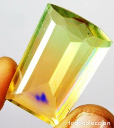 PRECIOSA TURMALINA HYDRO DOUBLET CORTE FANCY CON 37 CT. (Coleccionismo - Mineralogía - Gemas)