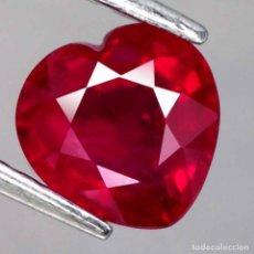 Coleccionismo de gemas: RUBI CORAZON 10,0 X 9,7 MM.. Lote 218500972